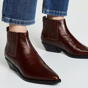 NEW Rag & Bone Mahogany Westin Leather Boot Sz 8.5